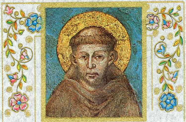 St. Francis from Prayer Card