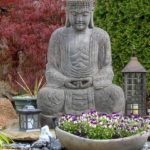 Peaceful Meditation Garden with Buddha