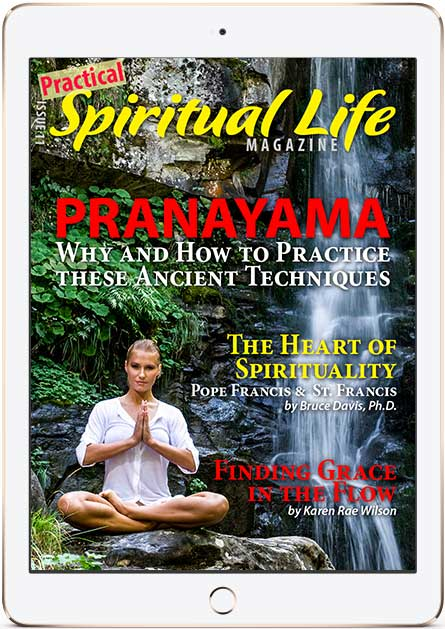 Spiritual Life Magazine Issue 11 on Pranayama Cover in iPad