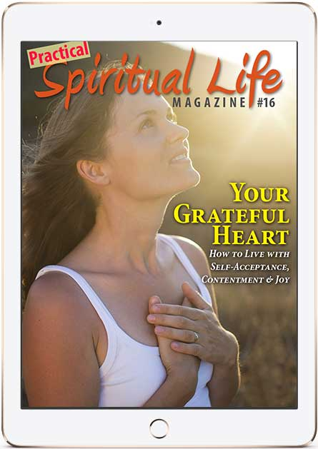 Spiritual Life Magazine on gratitude Cover in iPad