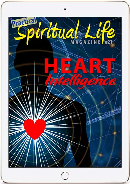 Spiritual Life Magazine on Heart Intelligence Cover in iPad