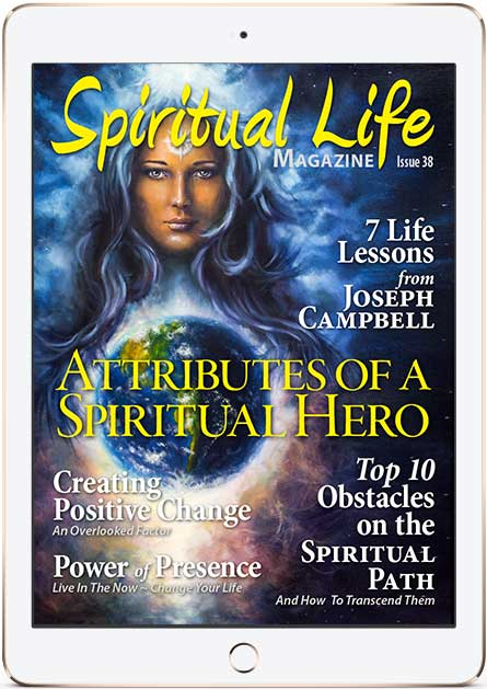 Spiritual Life Magazine Cover in iPad