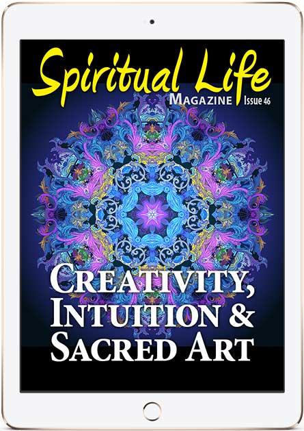 Spiritual Life Magazine Cover in iPad