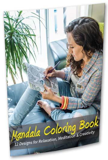 Mandala Coloring Book Cover