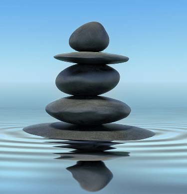 Zen stones in equilibrium